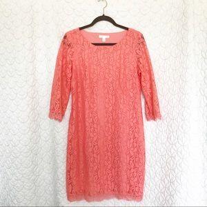 London Times orange dress